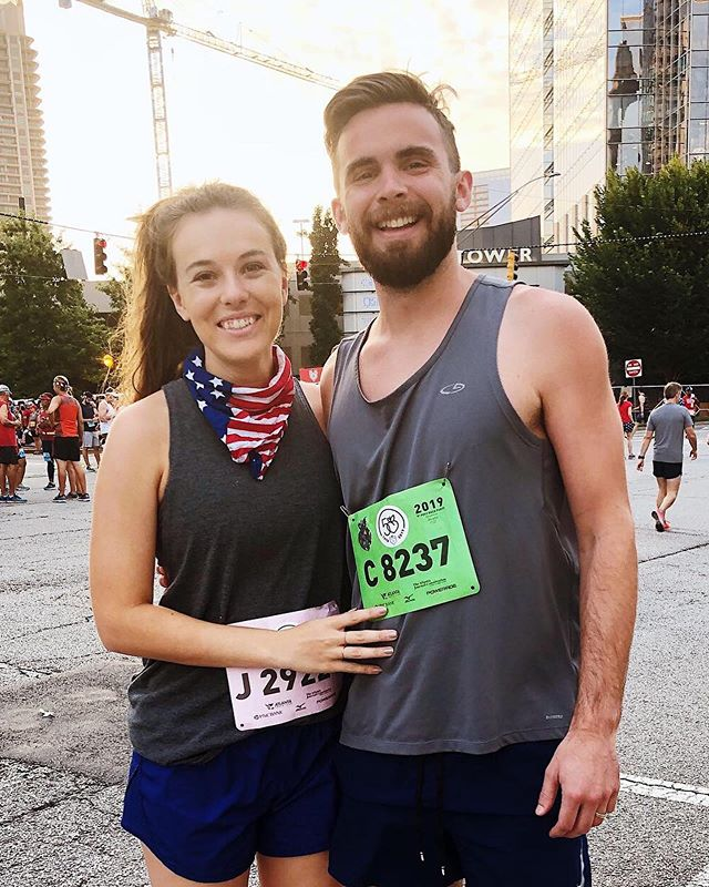 Peachtree Road Race 2019 -  It was my third year to run this race and I PR'ed! Happy 4th 🇺🇸