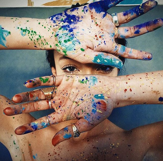 Sometimes the art doesn't make it to the canvas #ForTheColorful