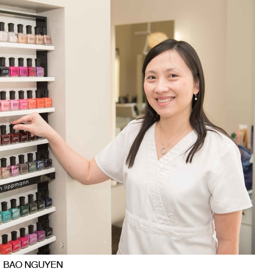 Bao has been with Roche Salon as a nail technician for 13 years. She started with us at our location that was in Sports Club LA on 24th and M Street and now she is at our Washington Harbour location. Bao uses a gentle, relaxing touch with her clients and does exquisite work. She specializes in both regular and gel manicures as well as pedicures. Bao has a gift of working well with clients who have special needs or expectations.
