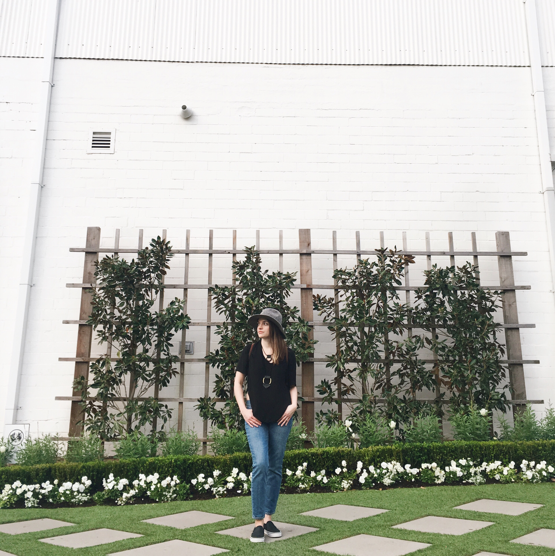 One of the rare opportunities I found to snap a photo at the entrance of Magnolia Silos while it was empty.