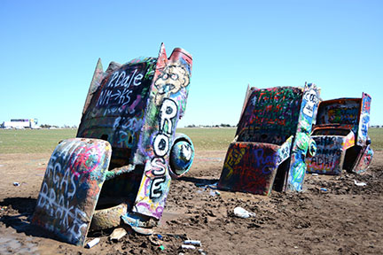 We stopped by Cadillac Ranch on our way home.