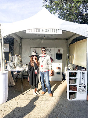 Stitch & Shutter booth at Spring at the Silos 2019- Megan and Chris