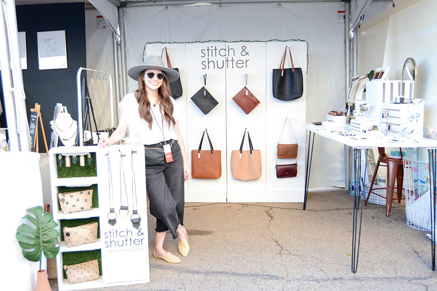 Stitch & Shutter booth at Spring at the Silos 2019- Megan