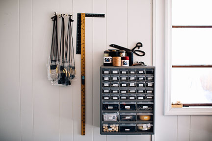 In the Studio with Stitch & Shutter- Hardware Wall Organization
