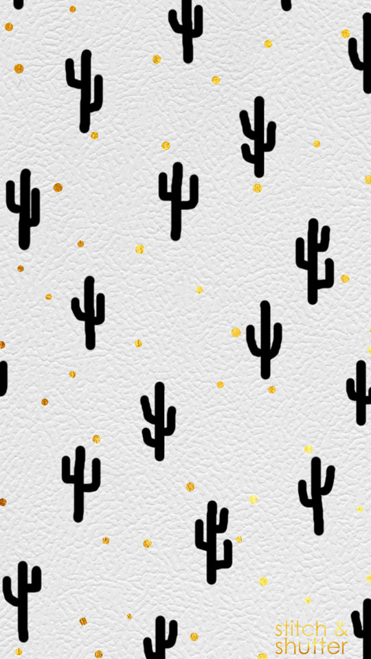 Stitch & Shutter Hand Painted Cactus Background