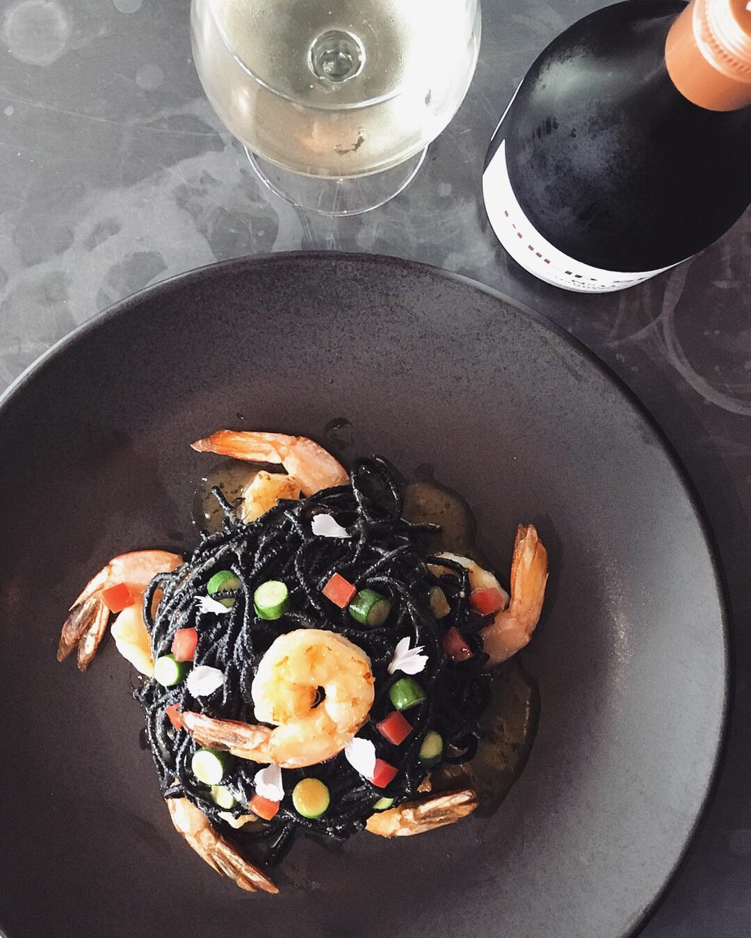 13-19 February - Luxurious squid-ink-infused spaghetti with prawns, courgette, tomato and a sauce of burned butter and garlic.Be adventurous! Fortuna audaces iuvat!