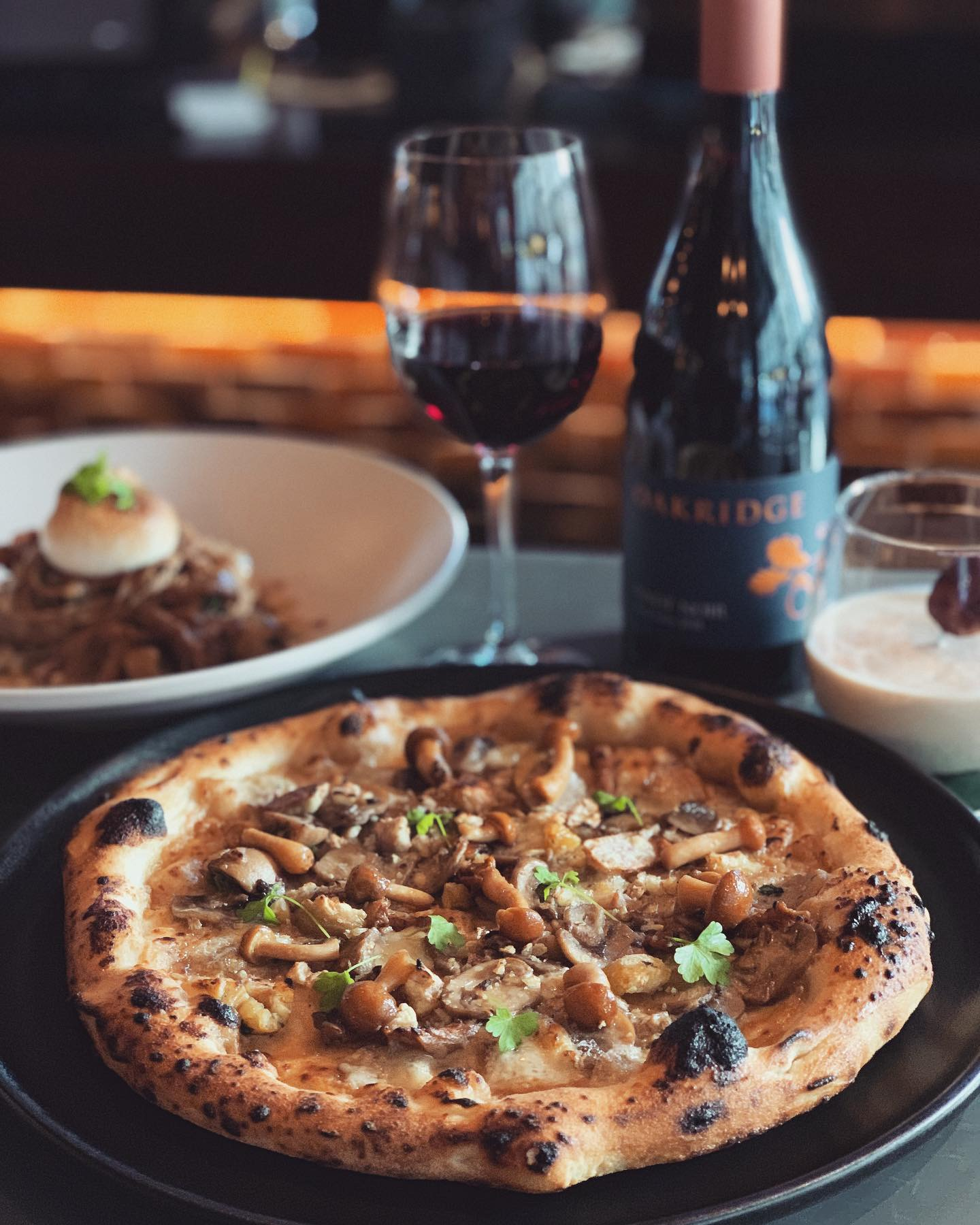 19-25 June - Our specials have a common theme this week: chestnut 🌰. ~~ C A S T A G N A ~~ Creamy chestnut purée, wild mushroom, Gorgonzola piccante , open-flame roasted and crushed chestnuts.~ Matched with a glass of Oakridge 'Yarra Valley Series' Pinot Noir (VIC). ~