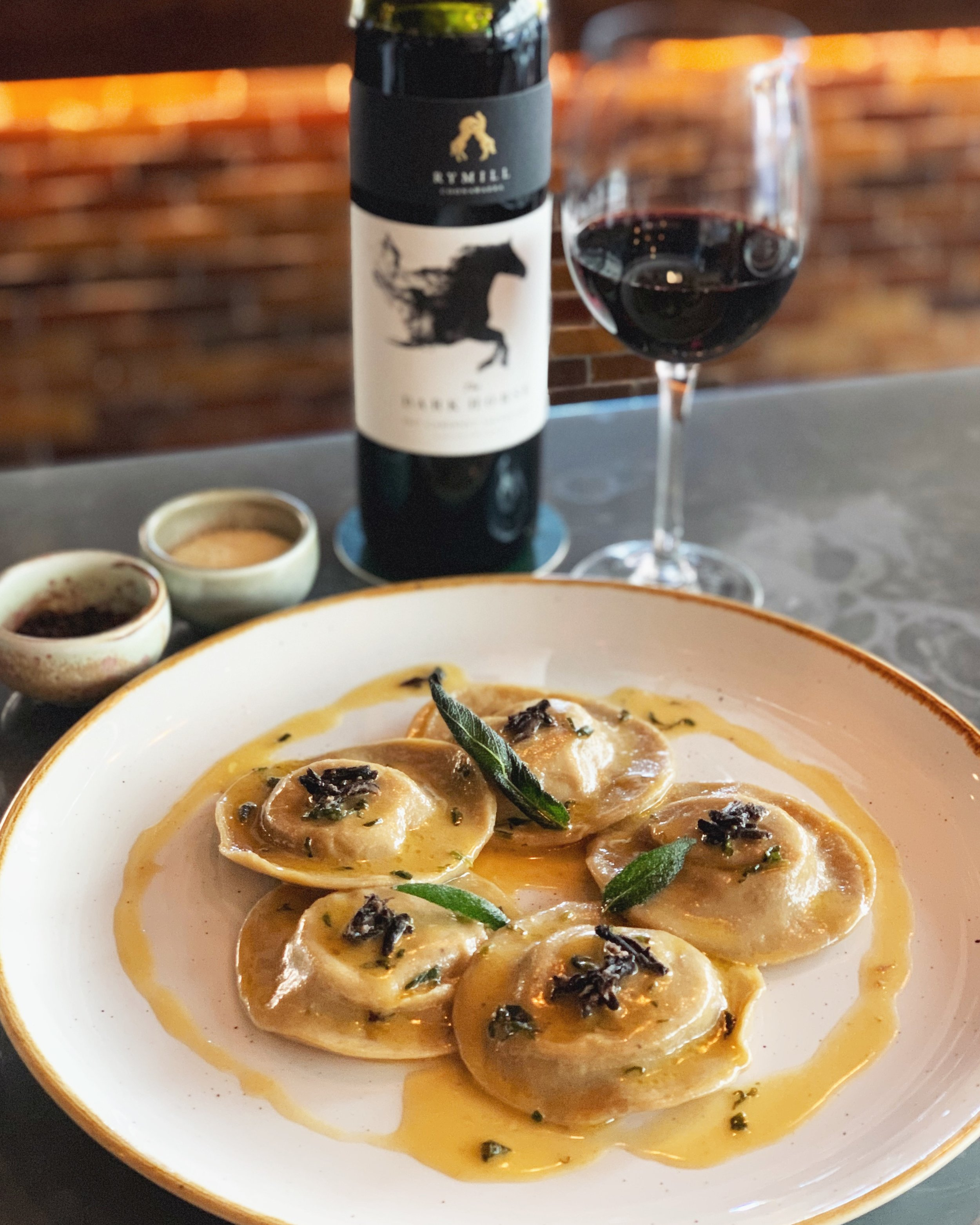 4-10 September - Special's out!~ R a v i o l i a l l ' A n a t r a ~These ravioli will take your taste buds to the next level of scrumptious umami flavours.// Truffle-infused handmade dumplings filled with confit duck dressed with burnt butter and sage. //Best enjoyed with a glass of Cabernet Sauvignon 👌🏻 .