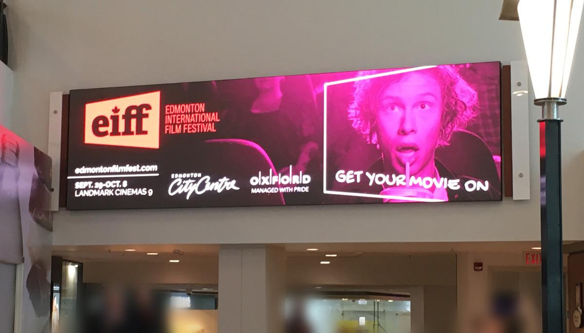 Edmonton International Film Festival - Electronic Billboard