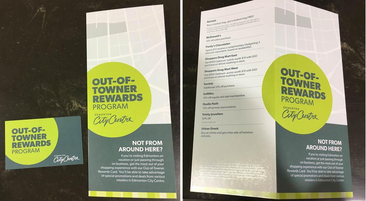 Edmonton City Centre Out-of-Towner Rewards Program