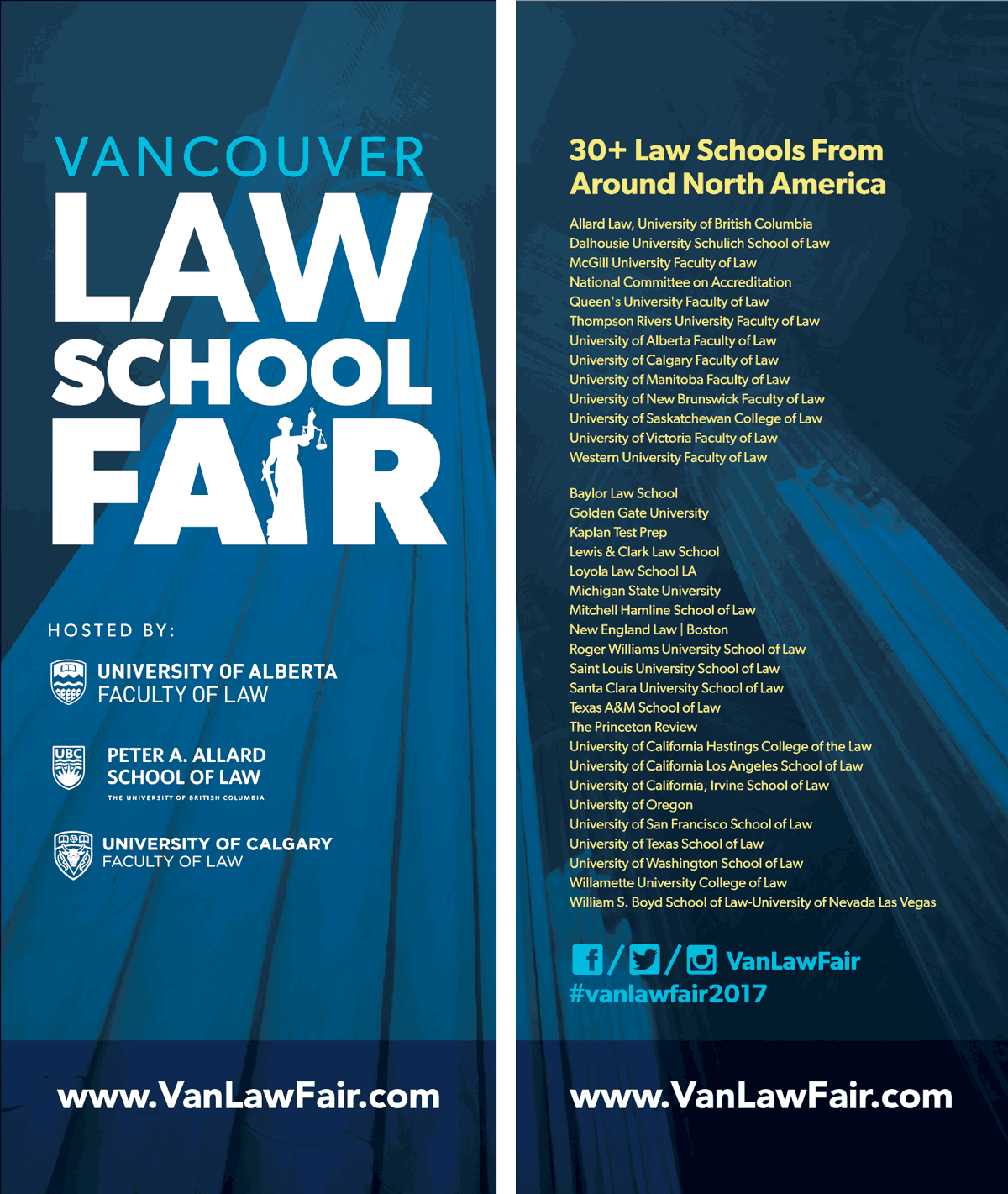 Vancouver Law School Fair 2017 – banners