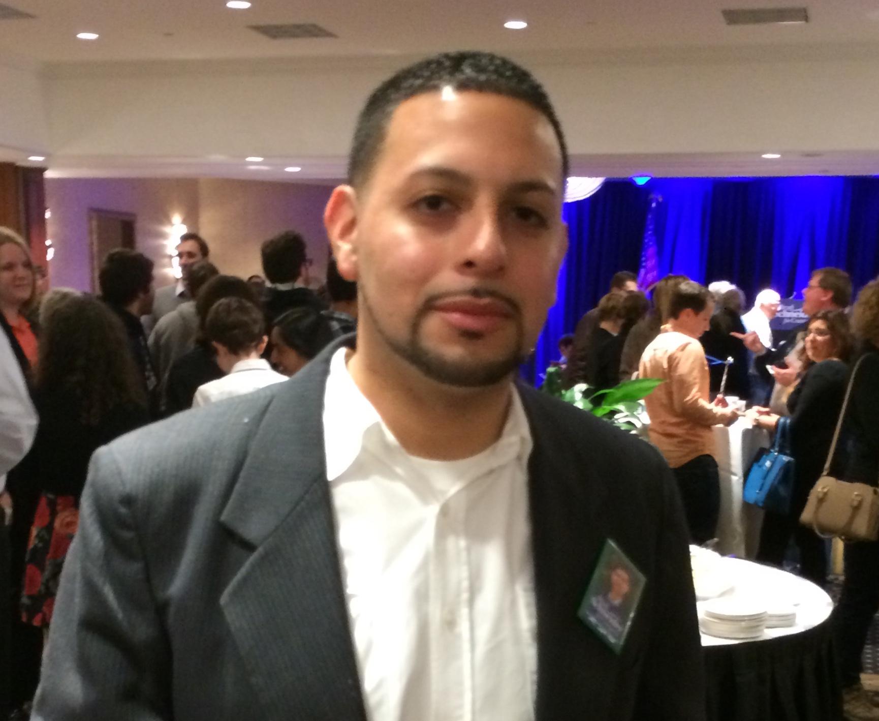 """Jerome Giacomara felt """"jittery"""" as he waited for polling results. Ramsen Shamon/MEDILL"""
