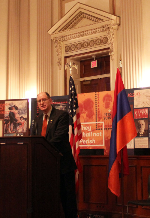 "Democratic Rep. Brad Sherman of California called on the U.S. to recognize the Armenian genocide. ""It is time for America to re-demonstrate that it is worthy of world leadership.""  (Photo by Ramsen Shamon)"