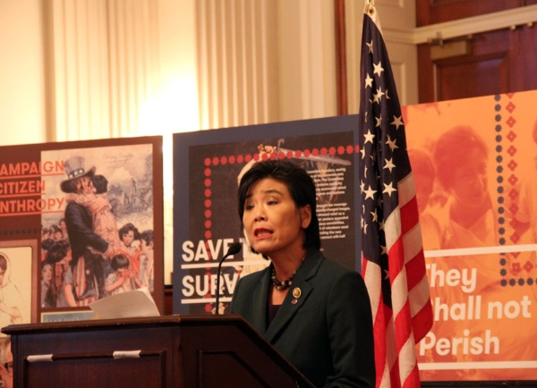 Rep. Judy Chu, Democrat of California, said that it is sad to think that the elderly who survived the genocide, would not live to see it recognized.  (Photo by Ramsen Shamon)