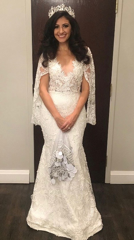 A wedding dress worn by Adessa and made by Sekhwa. Photo courtesy of Sekhwa.