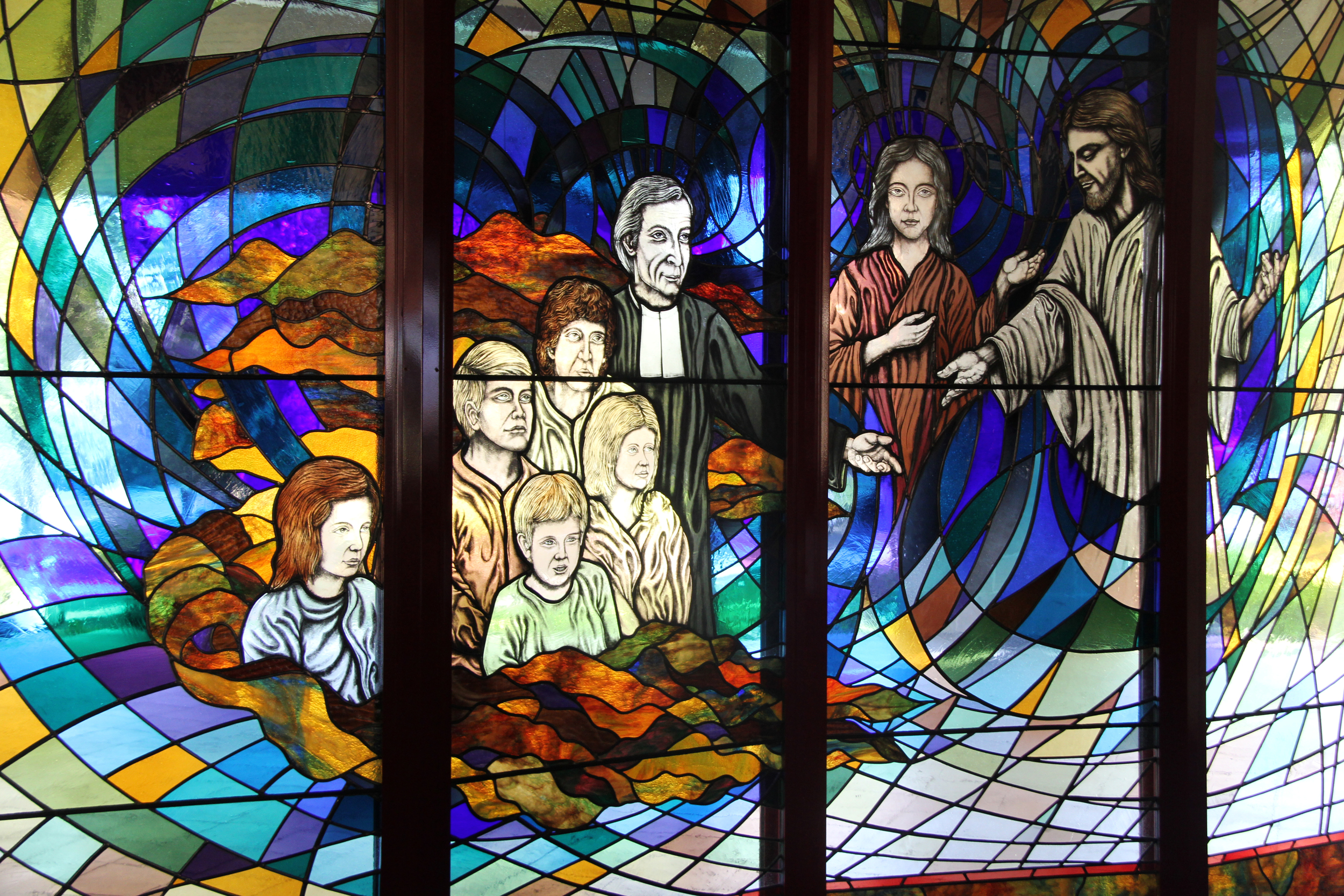 Stained glass, Newman College, Churchlands, WA