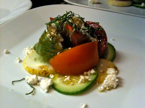 Heirloom Tomatoes & Cucumbers with Sheeps Milk Feta