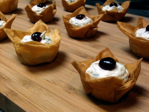 Herb & Chevre Phyllo Cups