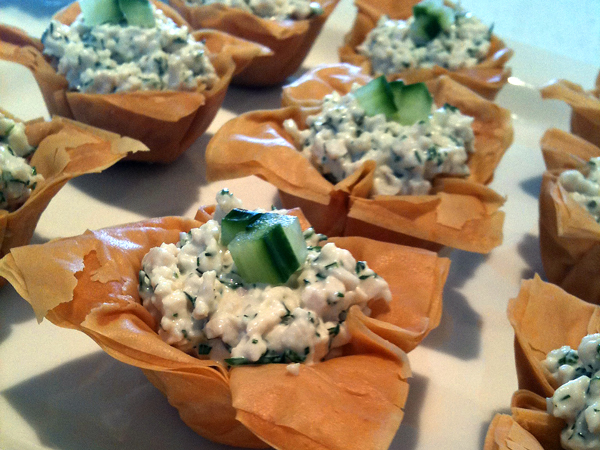 Chicken & Dill Phyllo Cups