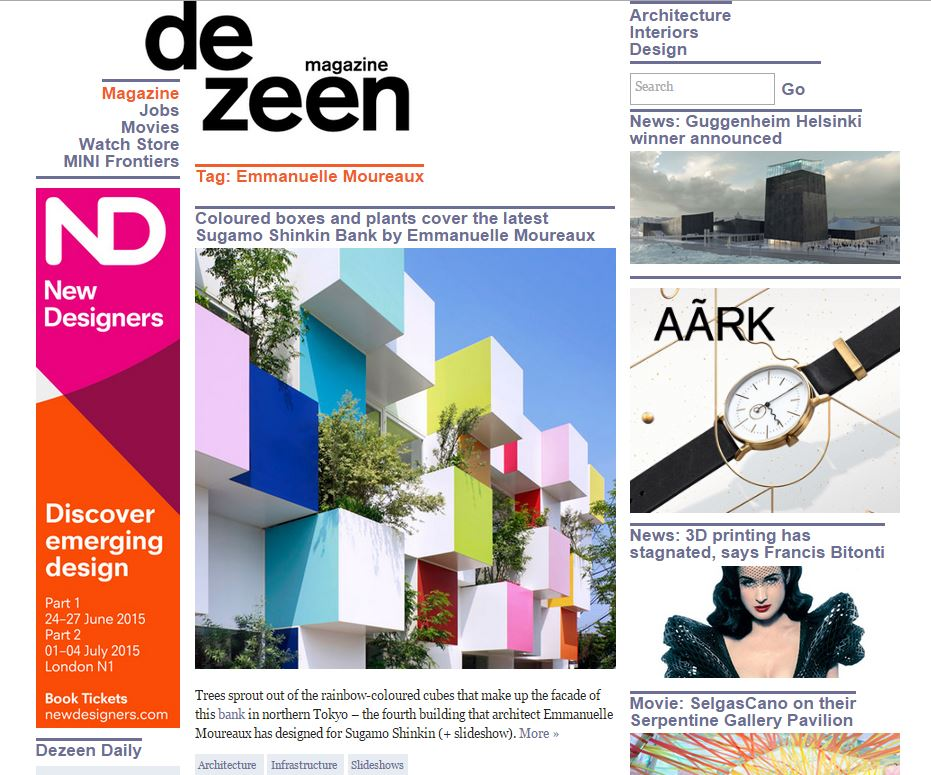 dezeen : go to listed articles