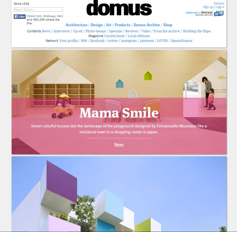 domus : go to listed articles