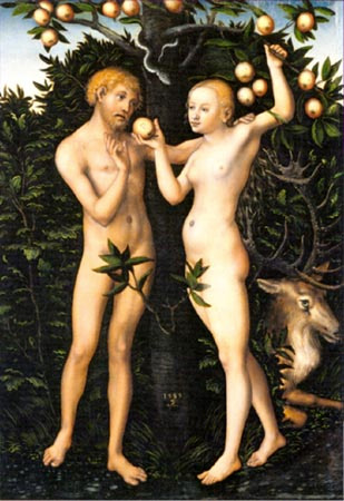 Adam and Eve experiencing FOMO...