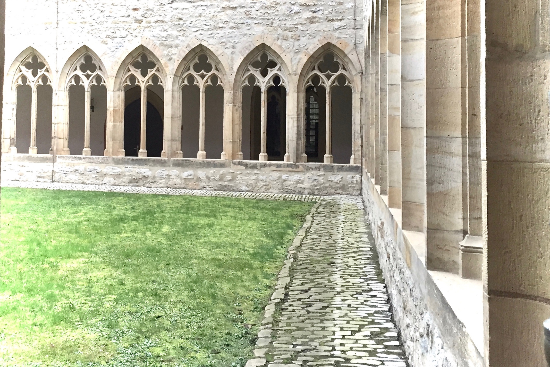 (c) A. Furchert. Part of the cloister walk at the Augustiner Kloster in Erfurt, where Martin Luther started out as a monk.
