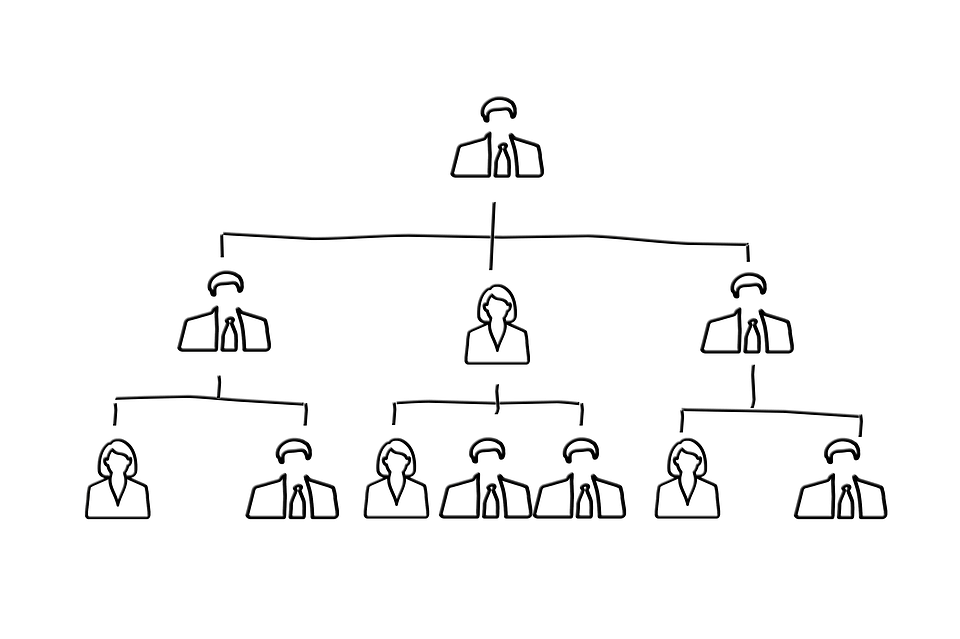Hierarchial organisational structure