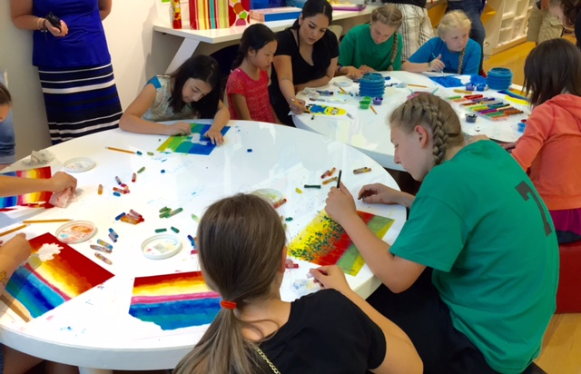 image of students making art for camp class
