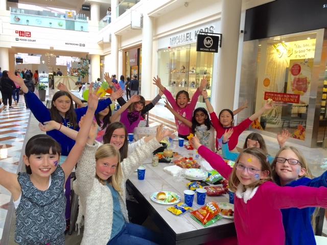 Kids celebrating a birthday.