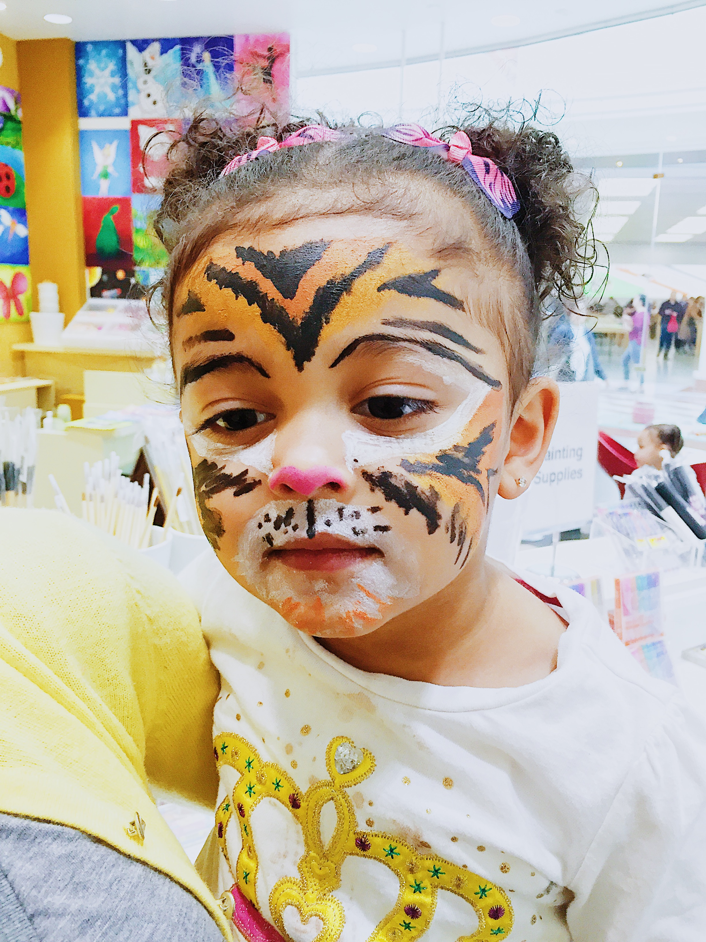 Image of tiger face paint.