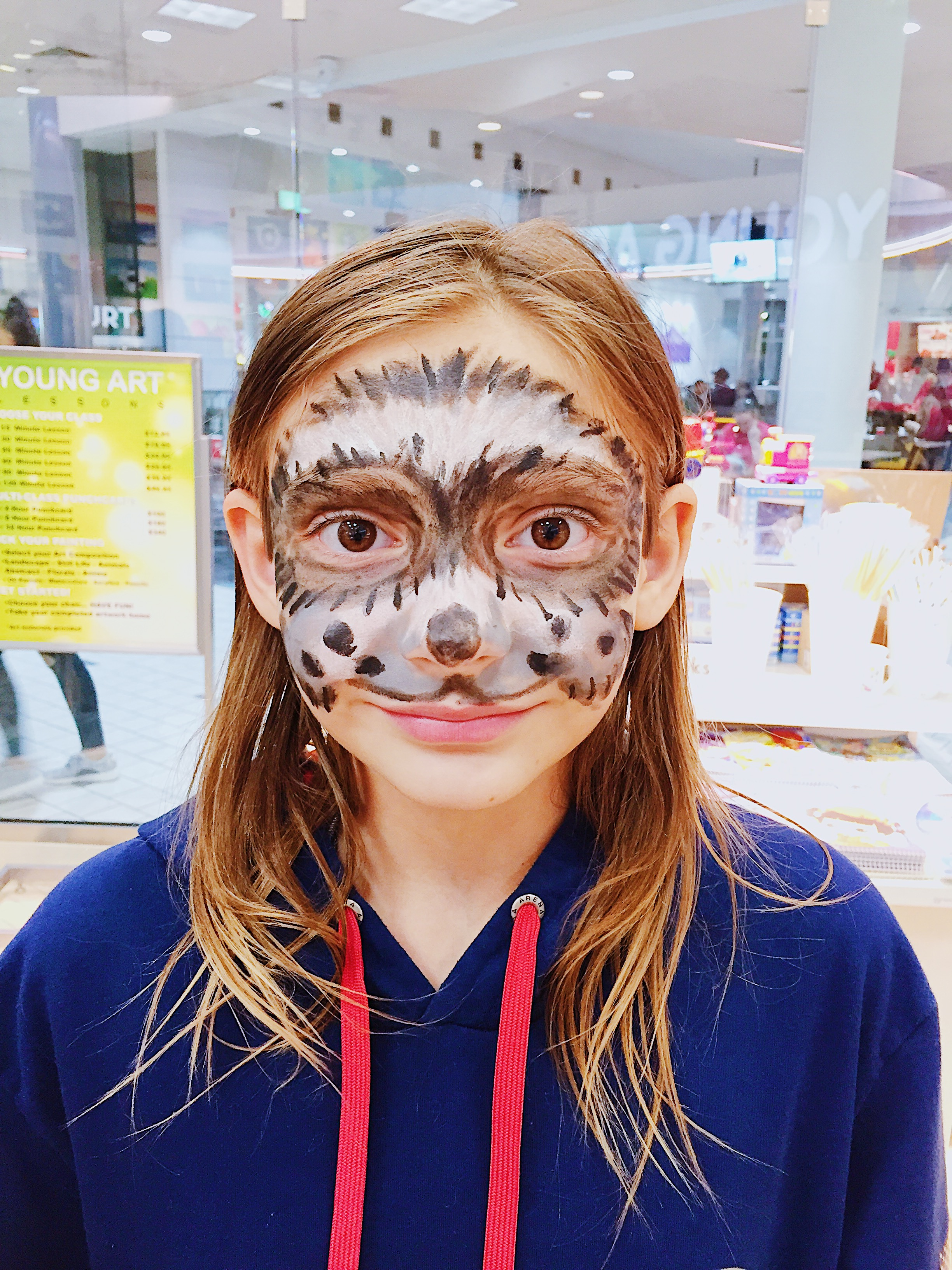 Image of raccoon face paint.