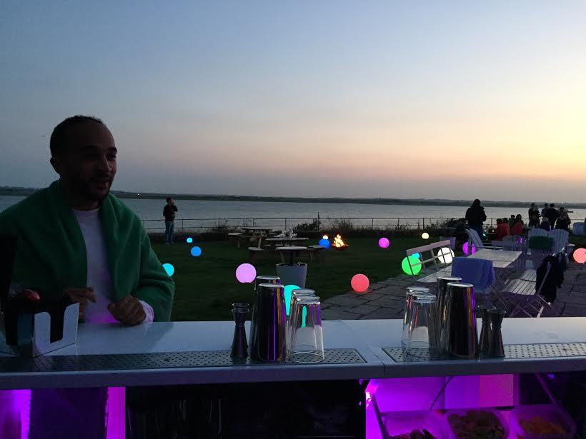 Summer cocktails at Osea Island : http://letsgoelsewhere.com/osea-island/