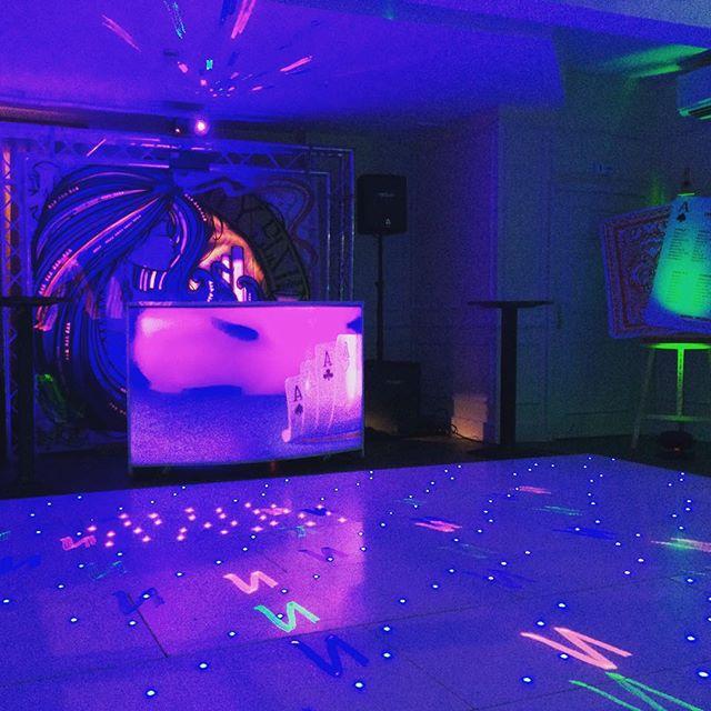 Party with Aunty Elsie's DJ backdrop #party #dj #djbooth #dancefloor #lasers #events #eventplanner