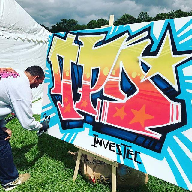 Live paint by Inkie at our corporate festival #livepaint #streetart #art #urbanart #wildstyle #graffiti #corporateevents #corporatefestival #festival #conference #summer #event #lifestooshortforordinary