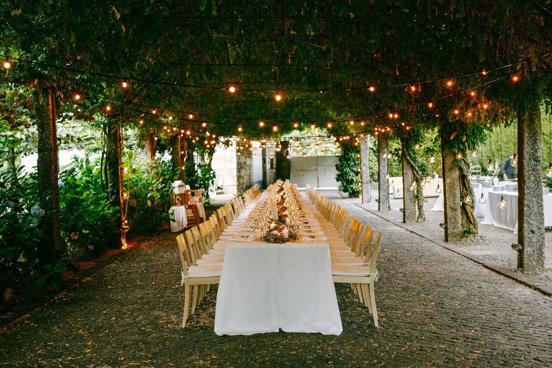 mesa corrida casamento portugal