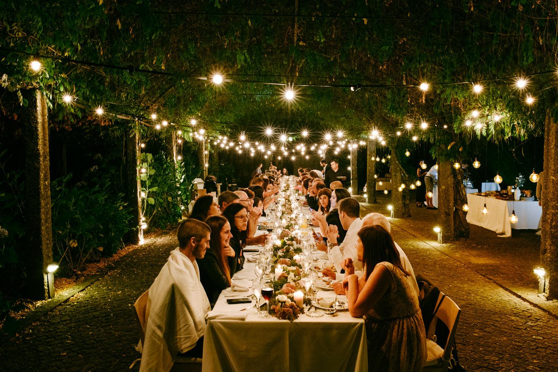 varal de luzes em casamento portugal
