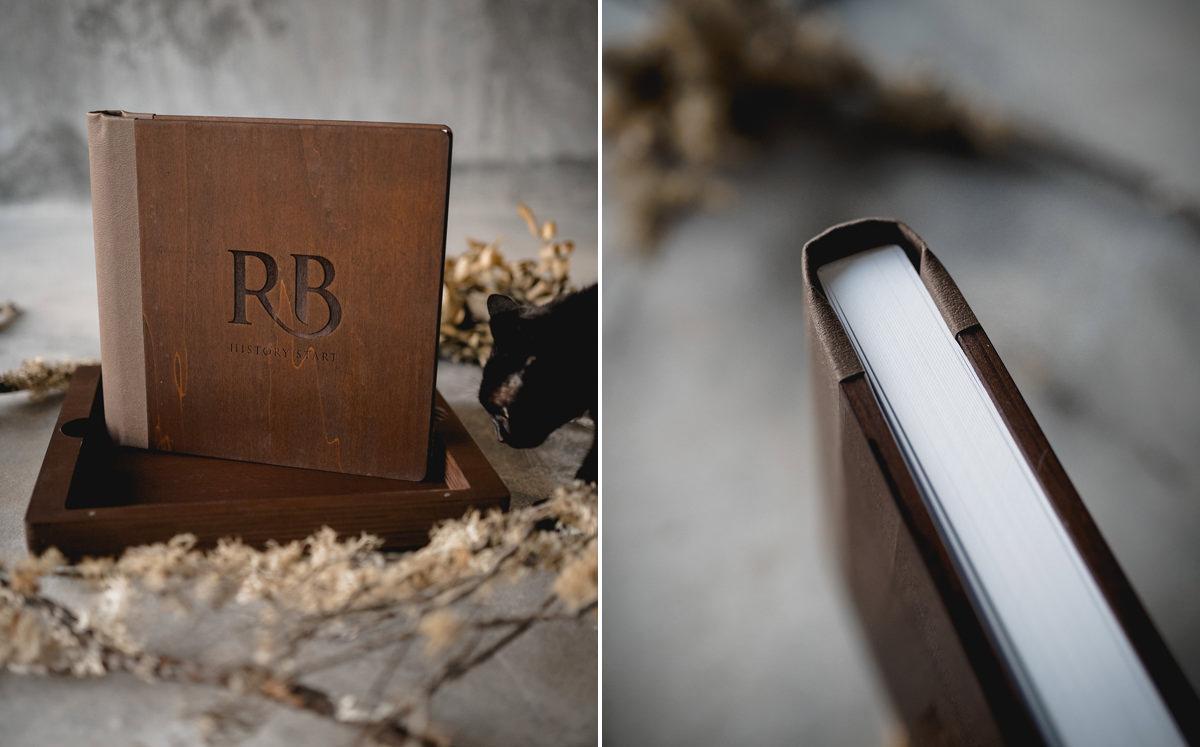 Album de casamento em madeira Portugal