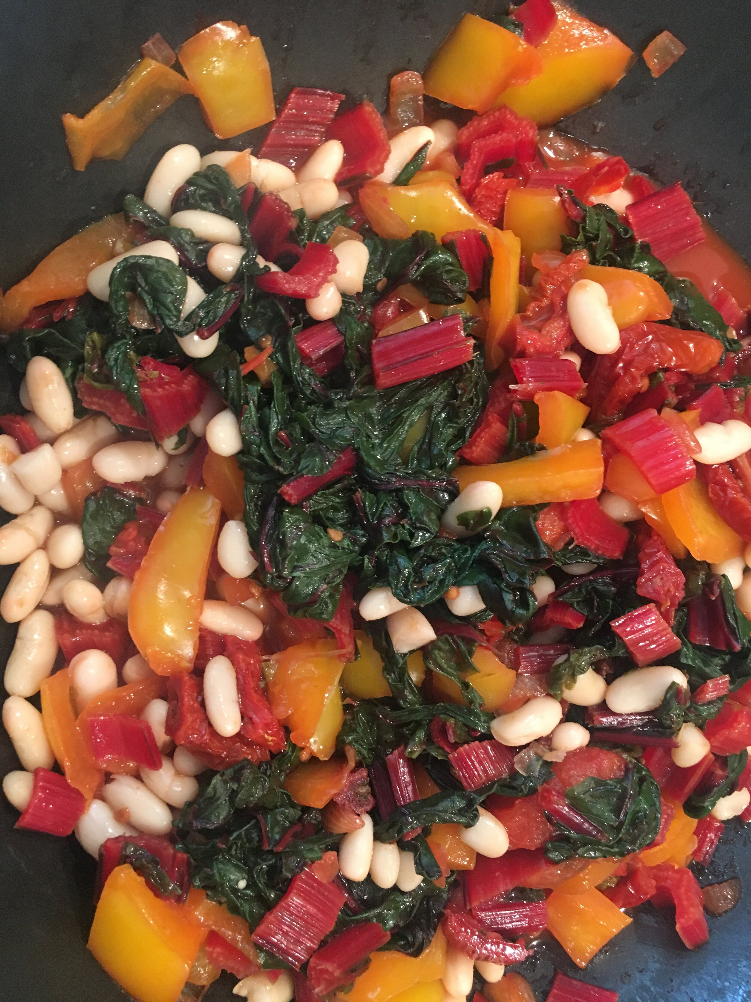 Mangold-Gemüse mit weißen Bohnen.JPG