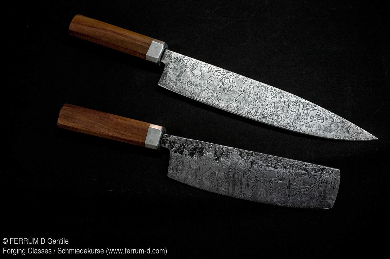 2-3 Tage Kochmesser Kurs, Damaszenerstahl   2-3 Day Chef's Knife Class, Patternwelded steel