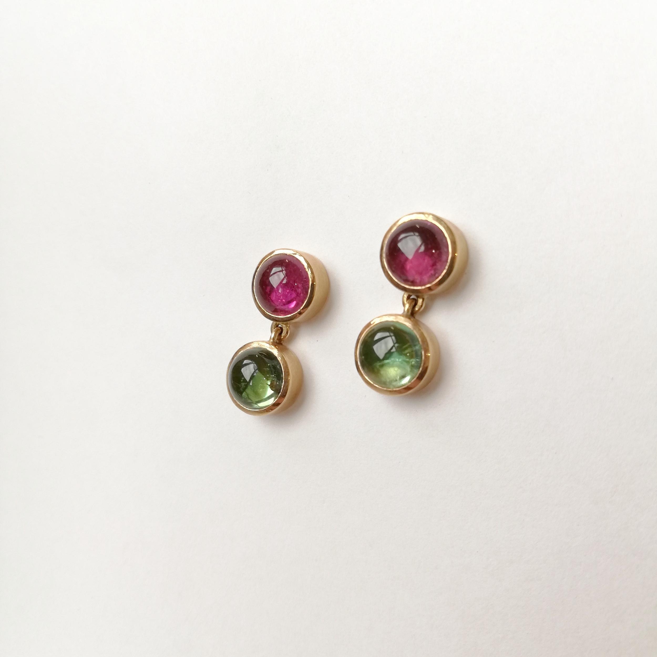 Ohrschmuck No.1 - Turmaline pink & grün / Roségold 750 Fr. 1890.00auch mit anderen Farbsteinen erhältlich,Preise variierend
