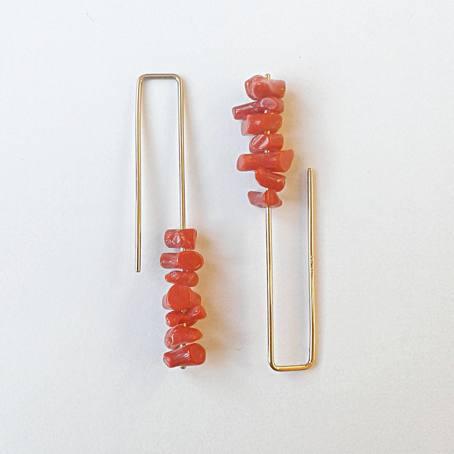 Ohrschmuck No.13 - Koralle / Roségold 750 / Fr. 270.00auch in Silber 925 erhältlich / Fr. 140.00