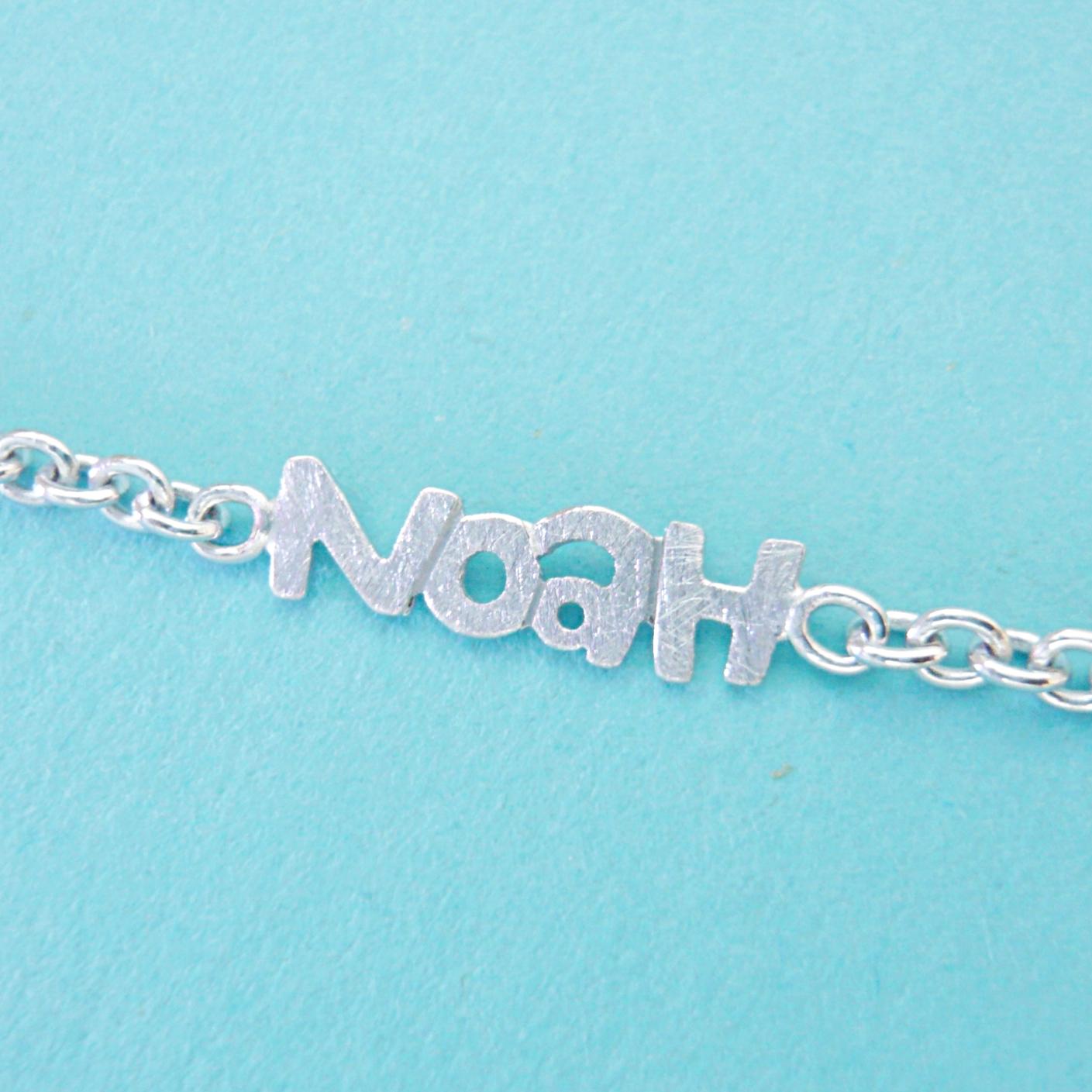 """Kinderarmbändli - Kundenanfertigung """"NOAH""""Silber 925erhältlich in verschiedenen Ausführungen"""