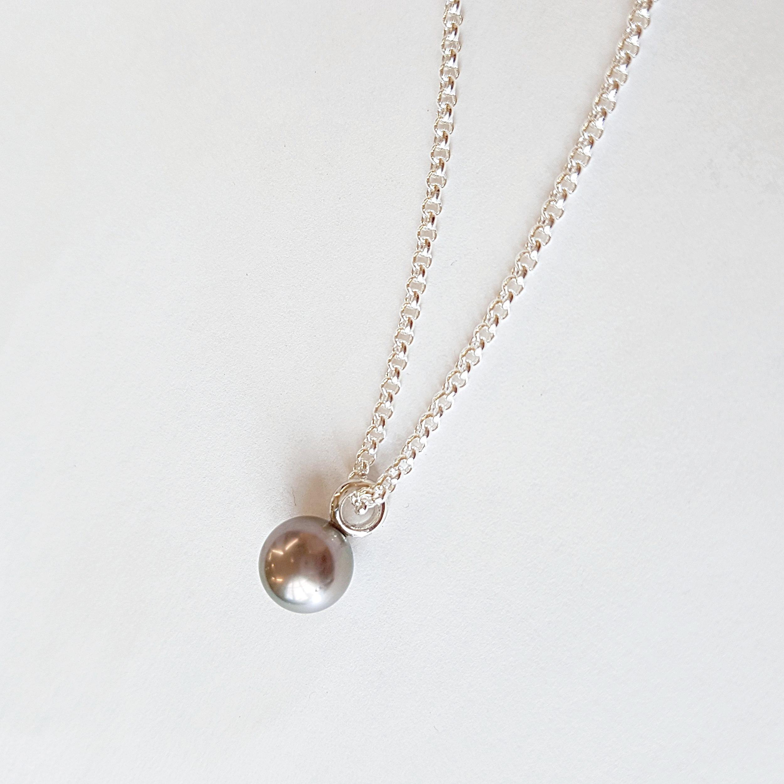 Halskette - KundenanfertigungSilber 925 / Tahitiperle