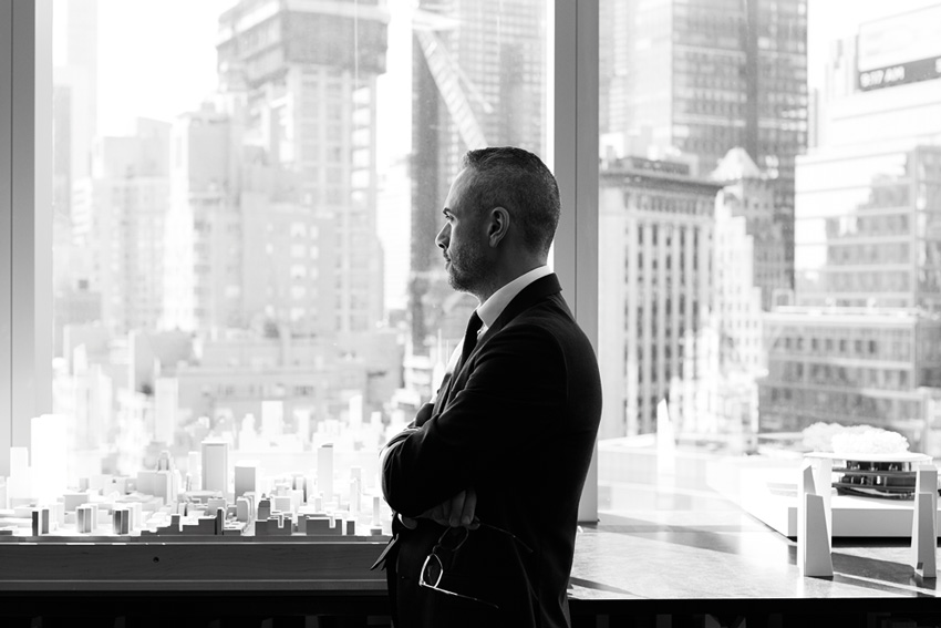 Anthony Fioravanti, who is no stranger to building big, has overseen mixed-use mega-projects in cities such as Los Angeles, New York and Abu Dhabi. He is photographed here at the Related Urban offices, which are located in New York City's Time Warner Center, one of Related's first mixed-use properties.