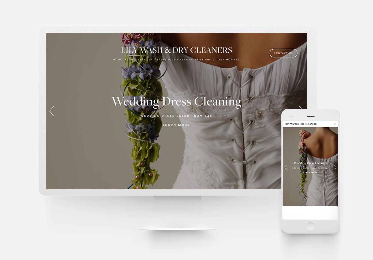 Dry Cleaners Website Design - Laundrette Website Design