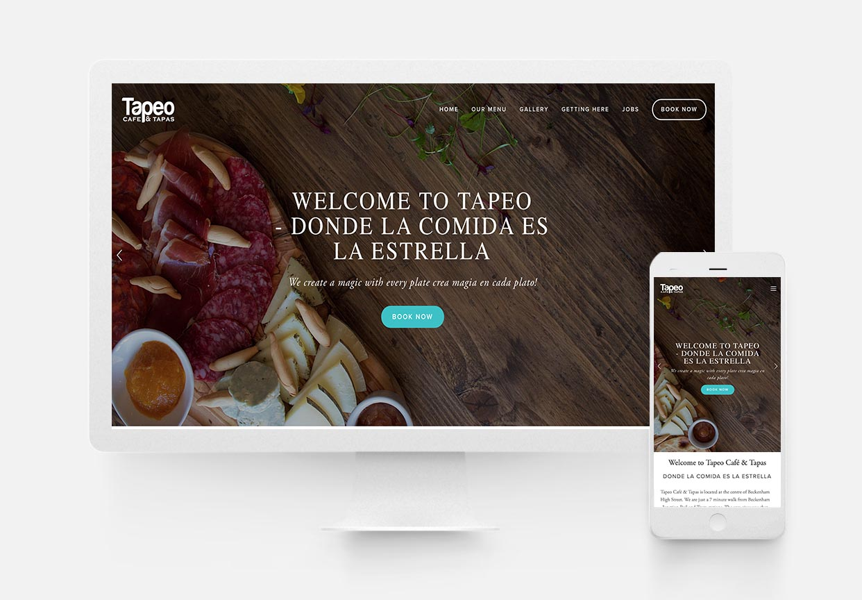 TApeo Cafe & Tapas - Restaurant Website Design