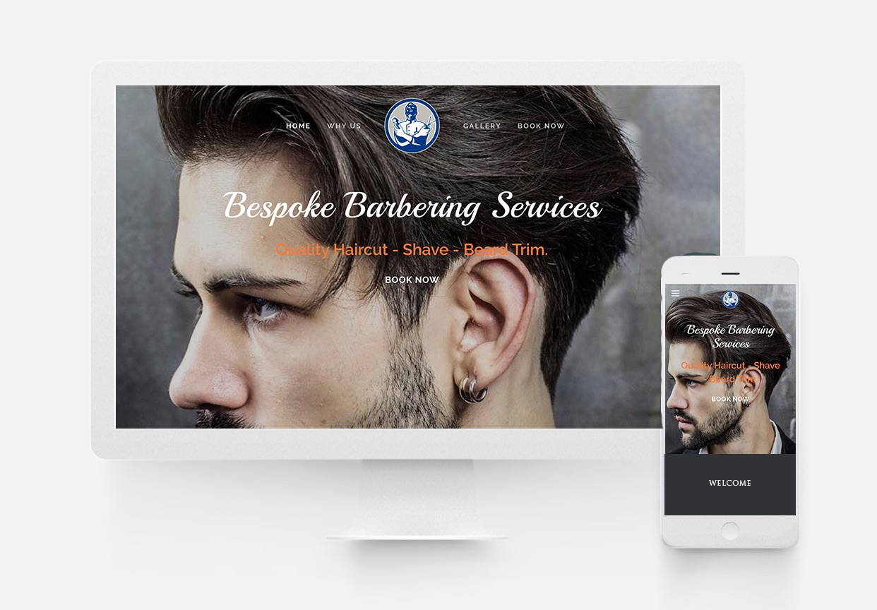 Barry's Barbers - Barbers Website Design