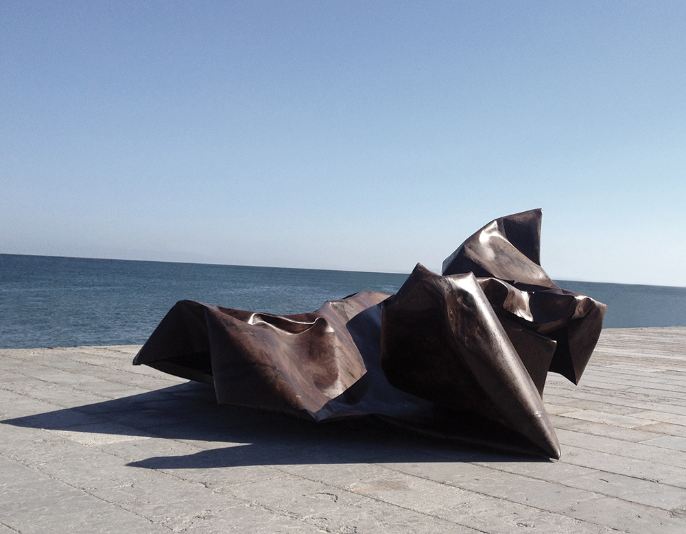 (In)Tension   2015,Steel And Acid   3,60 x 3 x 1,70 m,