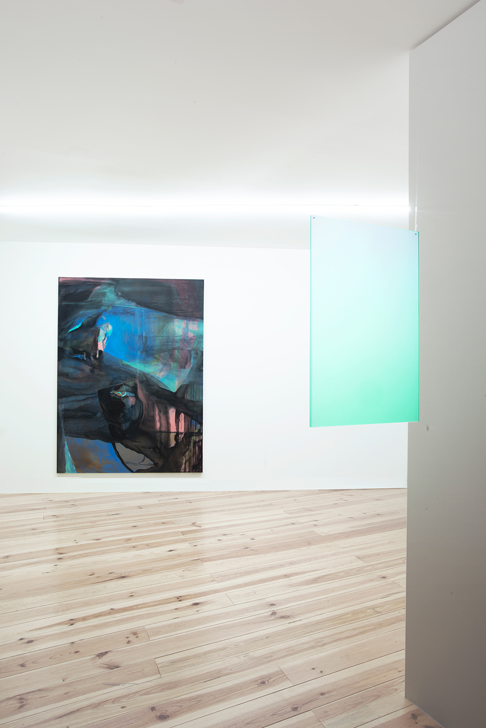 Well, its just an ocean between   2017, Installation View At  TAL Projects Left to Right: Pedro Batista, João Paulo Serafim